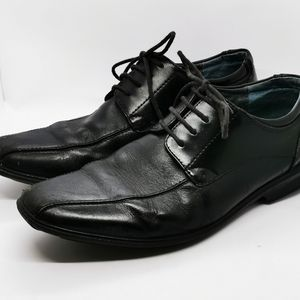 Hush Puppies Mens sz 9 Extra wide Black leather